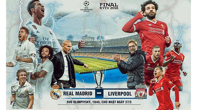 Trực tiếp Real Madrid 0-0 Liverpool: Salah rời sân vì chấn thương (Hiệp 1 KT)