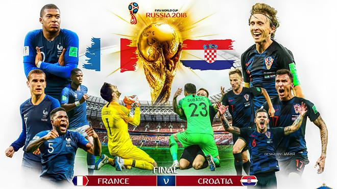 VTV6, trực tiếp bóng đá, trực tiếp chung kết World Cup 2018, trực tiếp Pháp vs Croatia, kèo Pháp vs Croatia, soi kèo Pháp Croatia, dự đoán bóng đá, bế mạc World Cup 2018