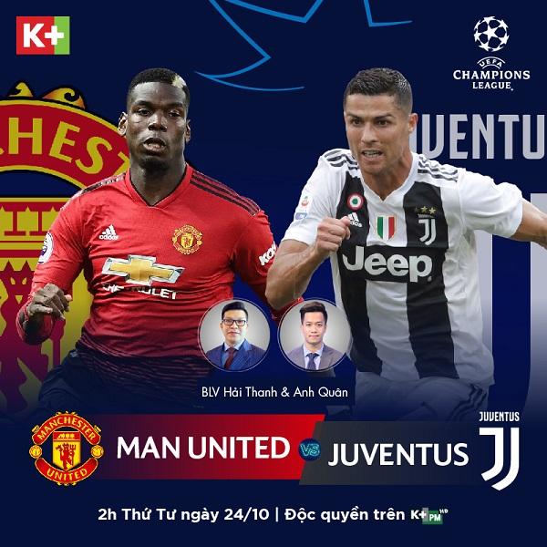VTV6. Trực tiếp bóng đá. Xem truc tiep bong da. U19 châu Á. MU vs Juventus