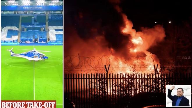 TRỰC TIẾP: Trực thăng chở ông chủ CLB Leicester phát nổ bên ngoài SVĐ