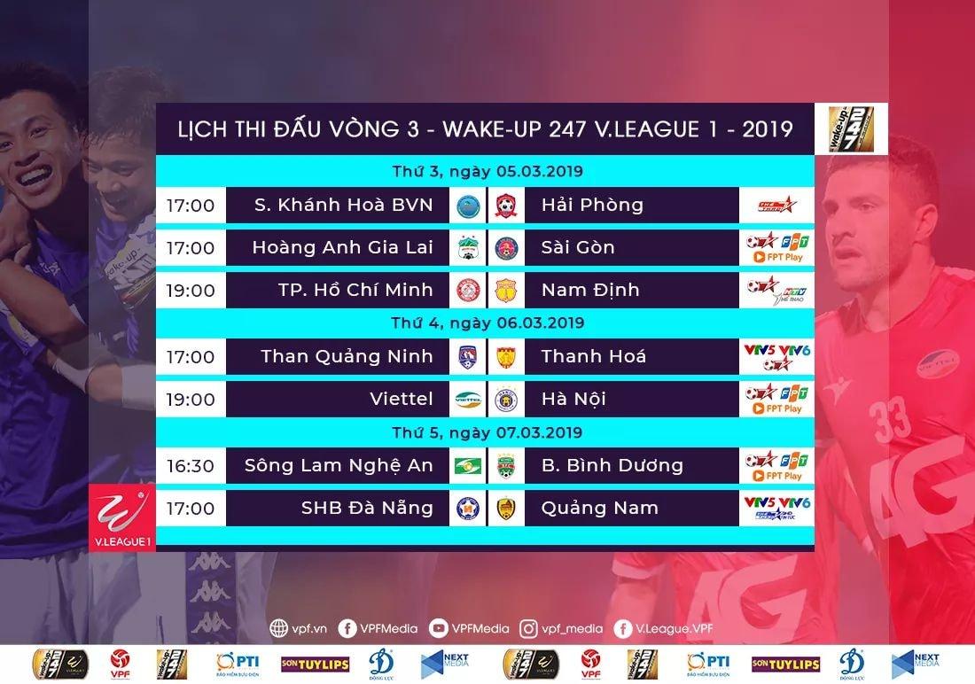 lich thi dau V-League 2019, VTV6, lịch thi đấu bóng đá hôm nay, trực tiếp bóng đa, truc tiep bong da, HAGL, HAGL vs Sài Gòn, Viettel vs Hà Nội, BĐTV, TTTV