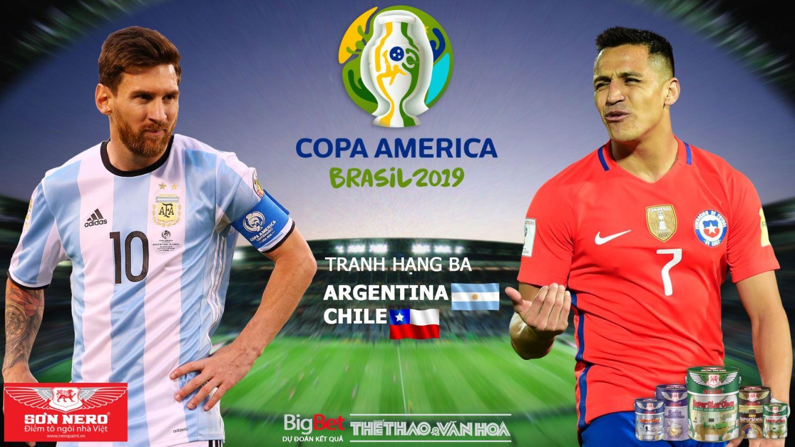 trực tiếp bóng đá hôm nay, Argentina đấu với Chile, truc tiep bong da, Argentina vs Chile, trực tiếp bóng đá, Copa America 2019, FPT Play, bóng đá, bong da, Copa 2019