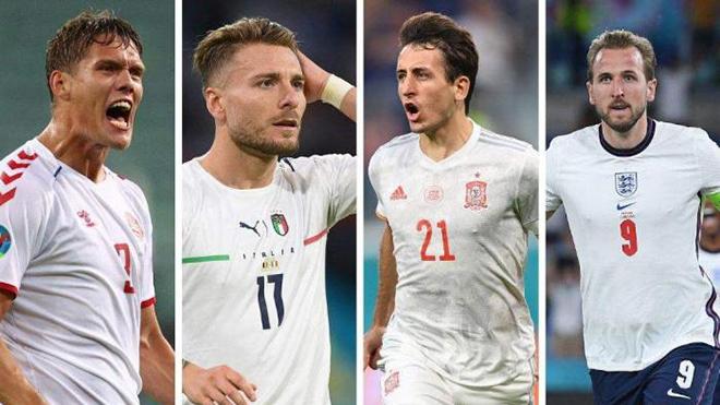 CẬP NHẬT Bán kết EURO 2021 Ý vs Tây Ban Nha, Anh vs Đan Mạch ngày 4/7/2021