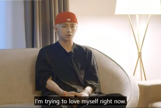 V, BTS, V BTS, chia sẻ, yêu bản thân, ARMY