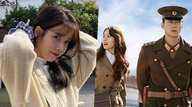 Nhạc phim 'Crash Landing On You' của IU đứng đầu nhiều BXH Kpop