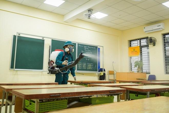 COVID-19, Hà Nội, tổng vệ sinh, khử khuẩn, đón học sinh trở lại trường, sinh viên quay lại trường, virus corona, corona