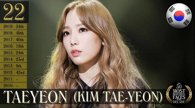 Blackpink, Twice, top 30 gương mặt đẹp nhất thập kỷ, Tzuyu Twice, Lisa Blackpink, Nana, Taeyeon, Song hye kyo