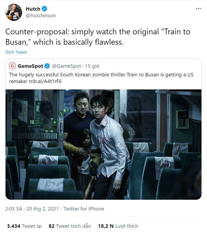 Hollywood, Train To Busan, Chuyến tàu sinh tử, Gong Yoo, Ma Dong Seok