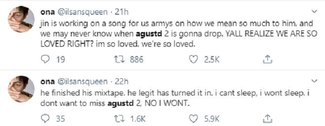 Suga, BTS, mixtape mới đã hoàn thành, Agust D, BTS Suga, BTS, BTS 2019