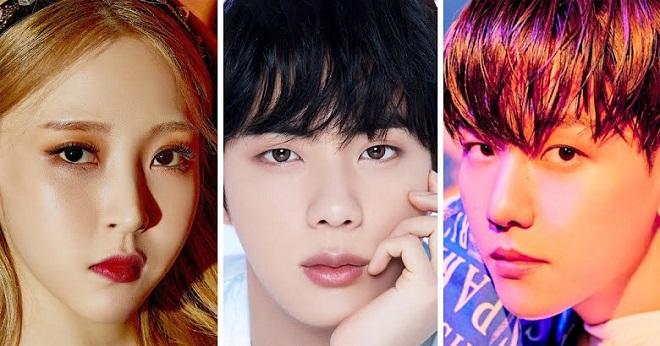 BTS, EXO, Kpop, BTS Idol, Jin, Mamamoo, Monsta X, HyunA, EXID