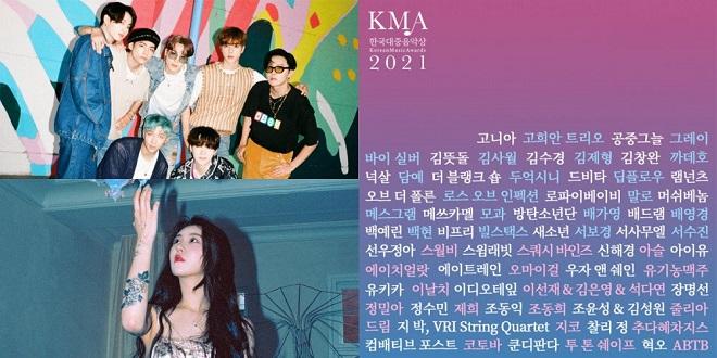 BTS, IU, Kpop, Âm nhạc Hàn Quốc 2021, Korean Music Awards, KMA, Blackpink, Twice, Zico, Oh My Girl, BTS tin tức
