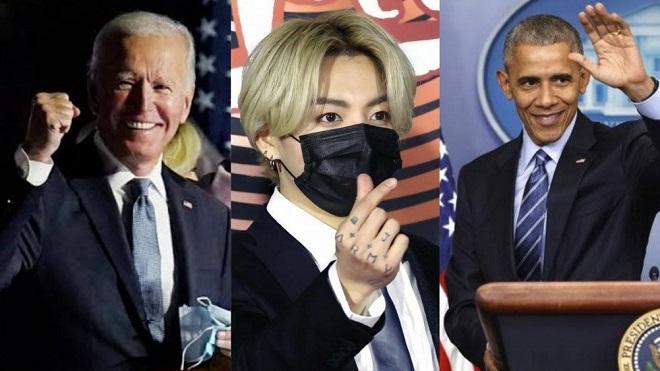 BTS, BTS tin tức, BTS thành viên, Jungkook, BTS Idol, Twitter, Joe Biden, Barack Obama