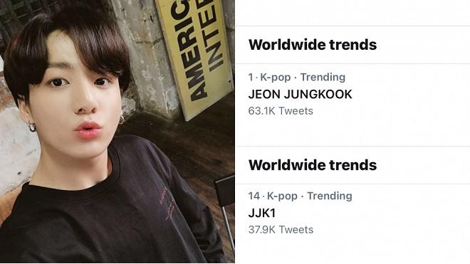 'Nhá hàng' bản thu âm mới, Jungkook BTS đứng top trending toàn cầu