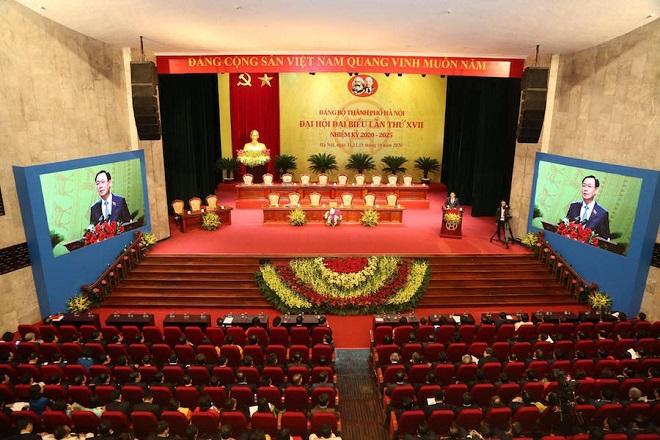 Hà Nội, Vương Đình Huệ, phiên trù bị, Đại hội đại biểu lần thứ XVII, Đảng bộ thành phố Hà Nội