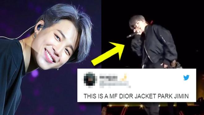 Choáng với cảnh Jimin BTS ném chiếc áo Dior đắt tiền xuống sân khấu cho ARMY