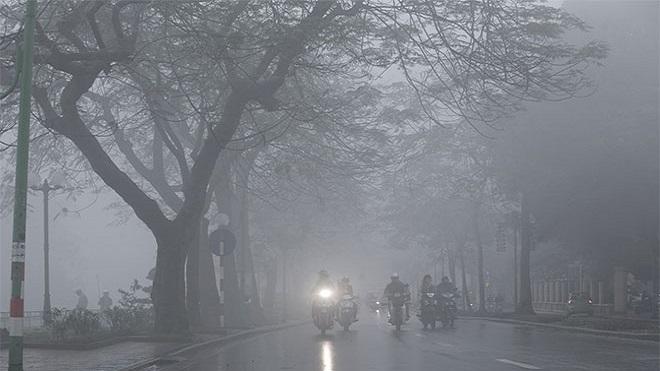 Dự báo thời tiết: Bắc Bộ và Bắc Trung Bộ mưa rét, sương mù về đêm