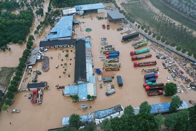 Trung Quốc, Lũ lụt, mưa dông, Tỉnh Giang Tây, miền Nam Trung Quốc