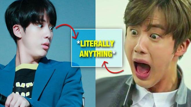 10 lần 'chết cười' của Jin BTS khi sợ tất cả mọi thứ