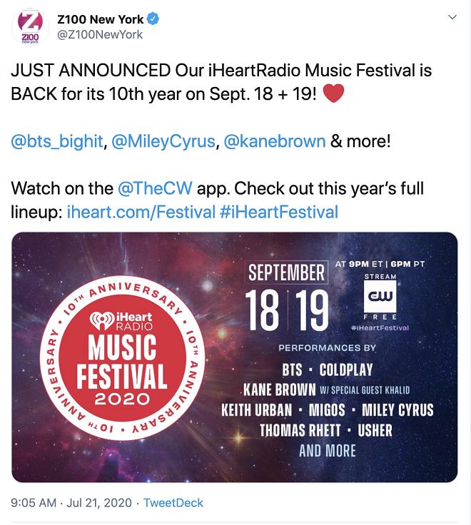 BTS, iHeartRadio, iHeartRadio Music Festival, BTS thành viên, BTS đang bị iHeartRadio lợi dụng, BTS bị lợi dụng tên tuổi, BTS tham dự festival âm nhạc, ARMY, Kpop