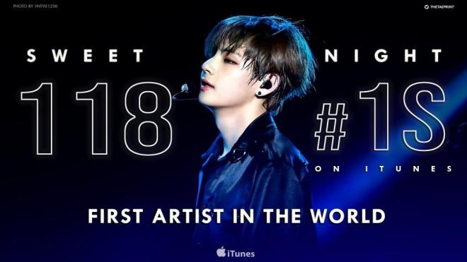 V BTS là nghệ sĩ đầu tiên và duy nhất trên thế giới lập kỷ lục này với iTunes