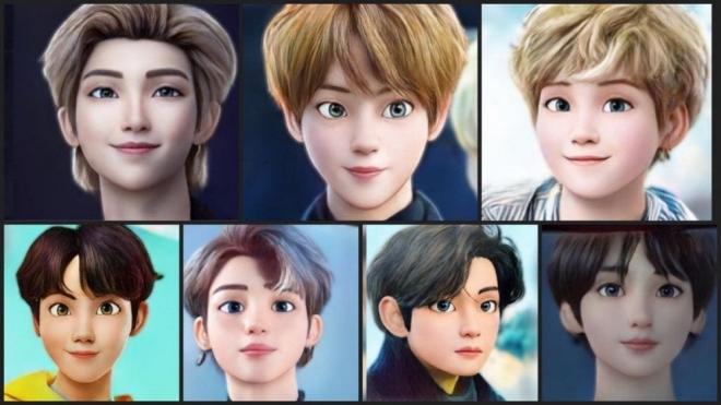 ARMY 'điên đảo' với loạt ảnh BTS phong cách hoạt hình Disney