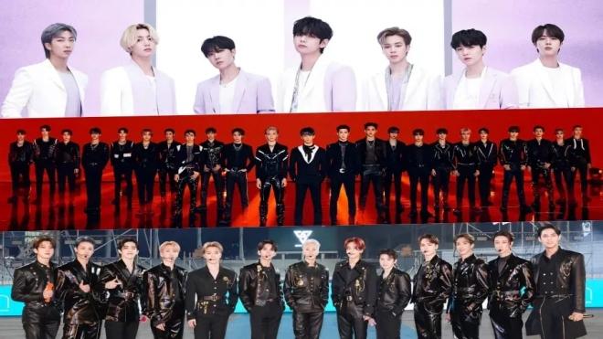 BTS, NCT và Seventeen đứng đầu BXH Nhóm nhạc nam tháng 5