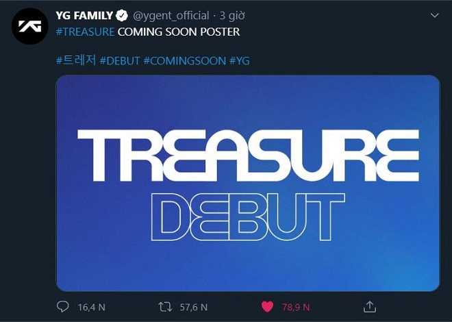 TREASURE, YG Entertainment, Blackpink, debut, YG, nhóm nhạc mới, Kpop