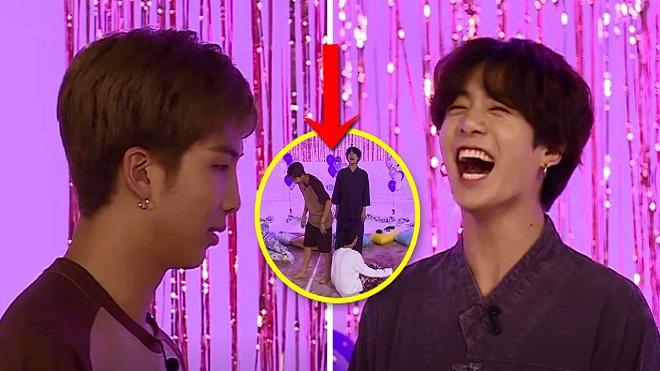Jungkook chọc phá thành viên BTS, kết quả bị RM 'trả thù'