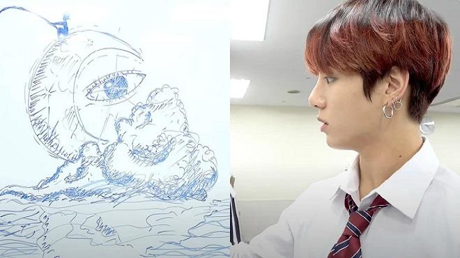 Đồng đội 'sốc' trước Jungkook BTS trổ tài 'họa sĩ'
