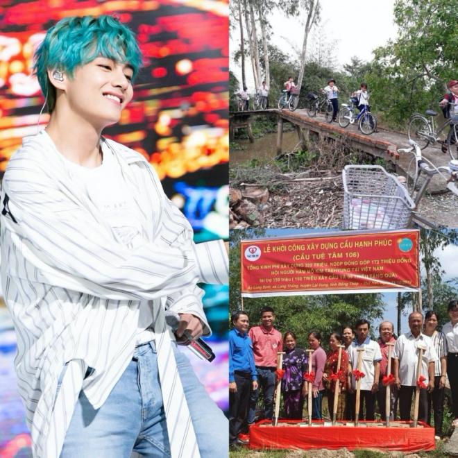V BTS, ARMY Việt, từ thiện, xây cầu, ủng hộ người nghèo, bts, bts thành viên, bts youtube, bts 2019, bts jungkook, bts v, bts hình ảnh