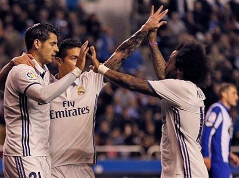 Real trút cơn thịnh nộ lên chủ nhà Deportivo