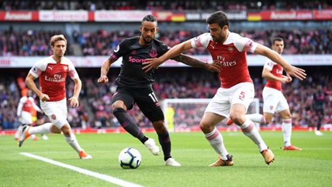 Arsenal 2-0 Everton: Lacazette, Aubameyang lập công, Pháo Thủ vượt mặt M.U, vào top 6
