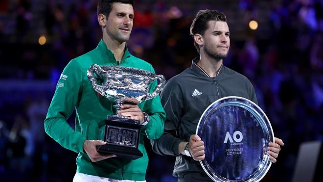 ket qua uc mo rong 2020, uc mo rong 2020, úc mở rộng 2020, kết quả chung kết úc mở rộng, Novak Djokovic, Dominic Thiem, Djokovic, Djokovic vô địch úc mở rộng 2020