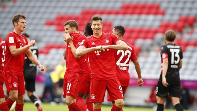 Bayern Munich 5-0 Dusseldorf: Lewandowski lập cú đúp, Bayern sắp vô địch Bundesliga