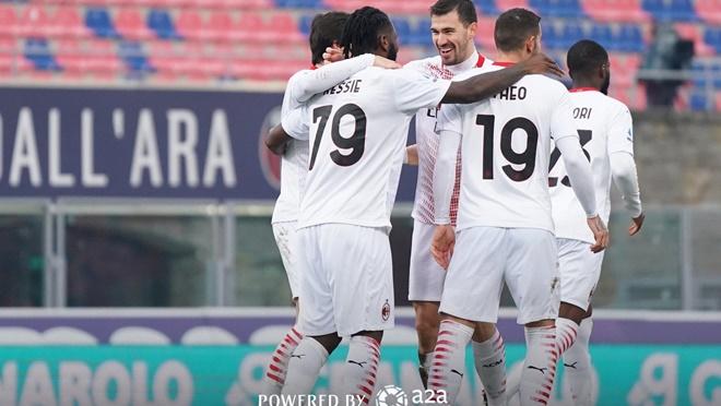Serie A vòng 20: Milan, Inter, Juventus toàn thắng, chiếm trọn top 3