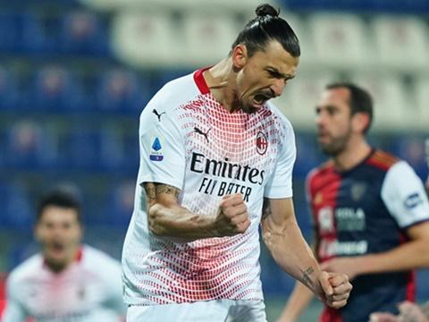 Cagliari 0-2 Milan: Ibrahimovic lập cú đúp, Milan xây chắc ngôi đầu Serie A