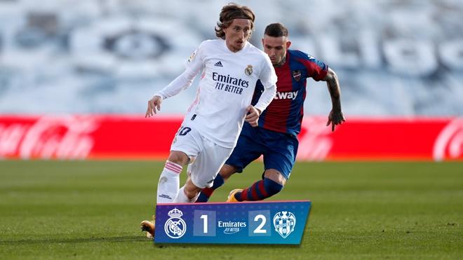 Real Madrid 1-2 Levante: Mất người sớm, Real thua sốc trên sân nhà