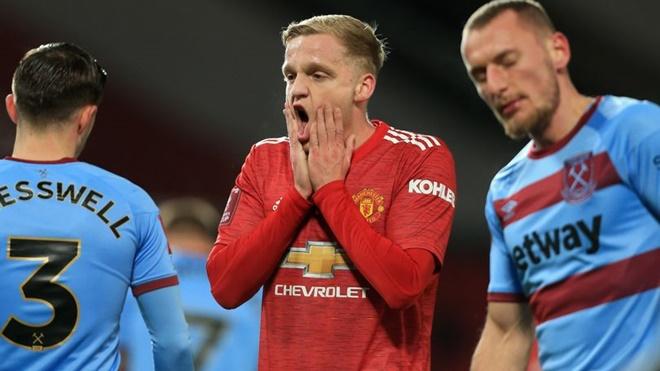MU, Van de Beek, MU vs West Ham, Bruno Fernandes, Pogba, Hàng tiền vệ MU, Ole, Van de beek gây thất vọng, chuyển nhượng MU, tin bóng đá MU, kết quả cúp FA, kết quả MU