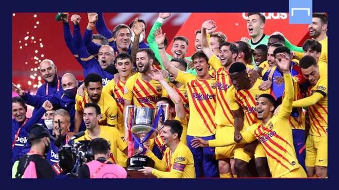Barca đoạt cúp Nhà Vua: 'Siêu nhân' Messi trở lại