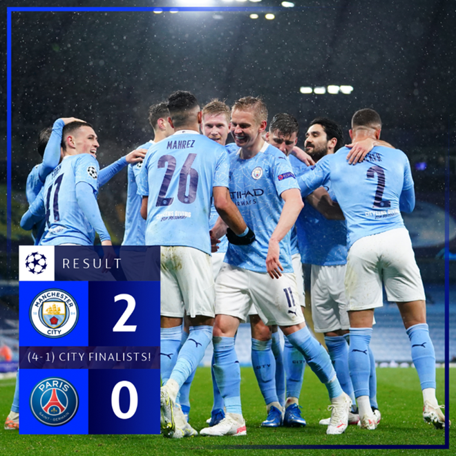Man City 2-0 PSG, kết quả bóng đá, kết quả Cúp C1, kết quả Man City vs PSG, Man City vs PSG, bán kết Cúp C1, Champions League, Guardiola, Man City, video Man City vs PSG