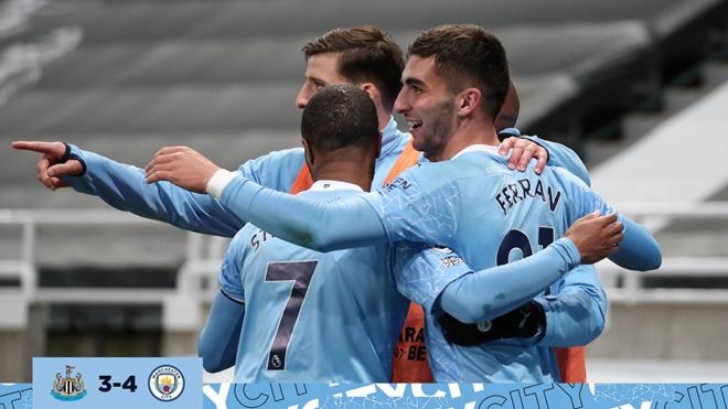 Man City, Guardiola, Ferran Torres thay thế Aguero, Ferrran Torres lập hat-trick, video Newcastle vs Man City, kết quả Newcastle Man City, Ngoại hạng Anh, chuyển nhượng