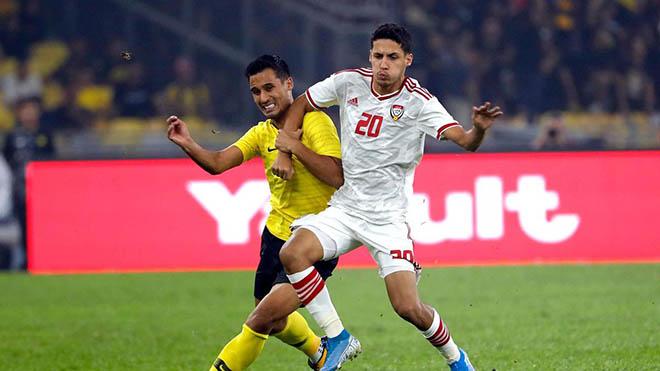 Trực tiếp bóng đá UAE vs Malaysia: Việt Nam hưởng lợi thế nào, nếu Malaysia gây sốc?