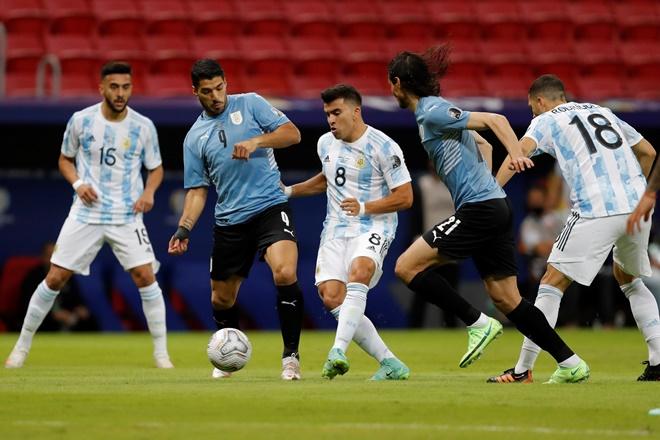 Argentina 1-0 Uruguay, ket qua bong da, Messi, kết quả Copa America 2021, ket qua Argentina dau voi uruguay, bảng xếp hạng copa America 2021, lịch thi đấu Copa America