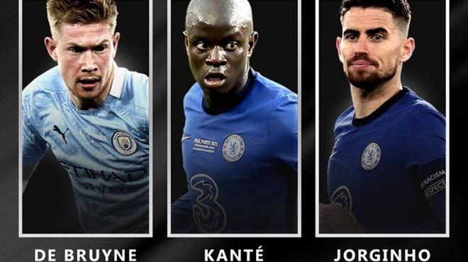 TIẾT LỘ: Jorginho vượt Kante, De Bruyne đoạt giải Cầu thủ xuất sắc nhất UEFA