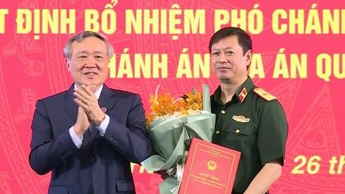 Quốc hội phê chuẩn Thiếu tướng Dương Văn Thăng làm Thẩm phán Tòa án nhân dân tối cao