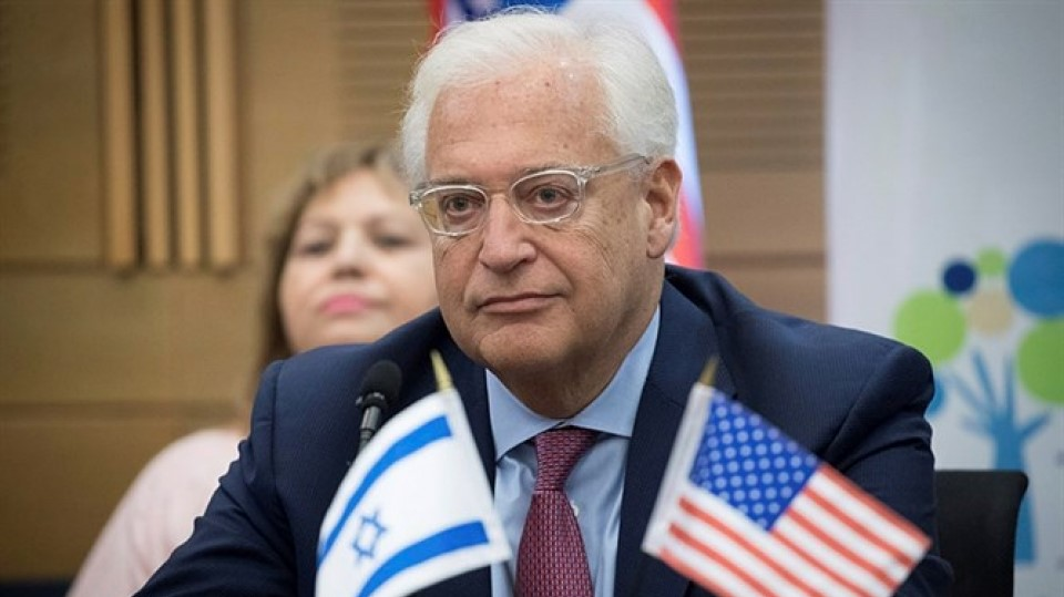 Palestine phản đối phát biểu của Đại sứ Mỹ tại Israel về khu Bờ Tây