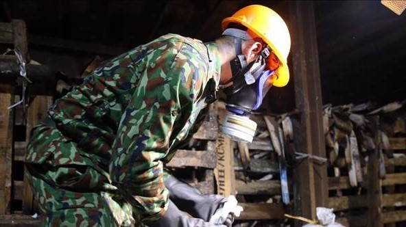 Vụ cháy công ty Rạng Đông: Binh chủng Hoá học tiến hành xử lý tẩy độc khu vực cháy