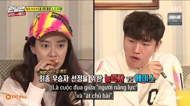 running man tập 438 cuộc chiến kịch tinh giữa người năng lực kim jong kook va at chủ bai song ji hyo ttvh online song ji hyo