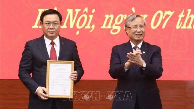 Tư liệu về quá trình công tác của đồng chí Vương Đình Huệ và đồng chí Hoàng Trung Hải