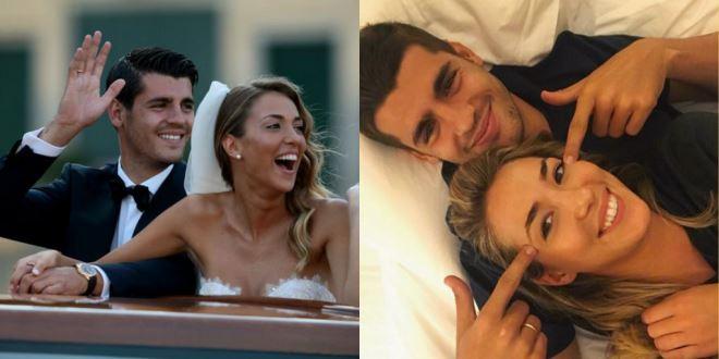 Tin nhắn từ vợ giúp tinh thần thi đấu của Alvaro Morata lên cao